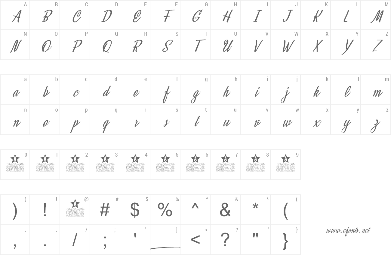 Font Mystical Eyes preview