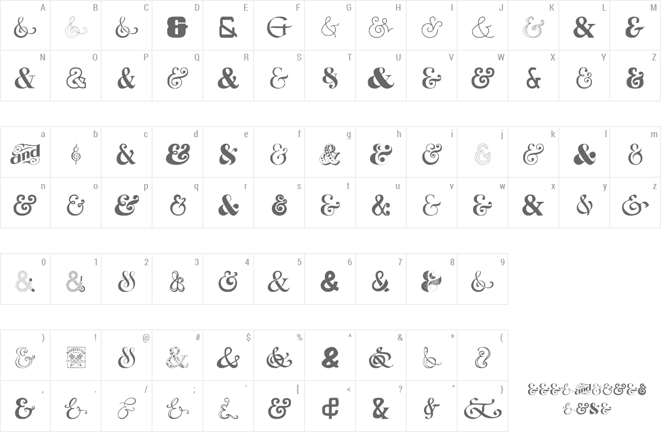 Font Ampersand preview