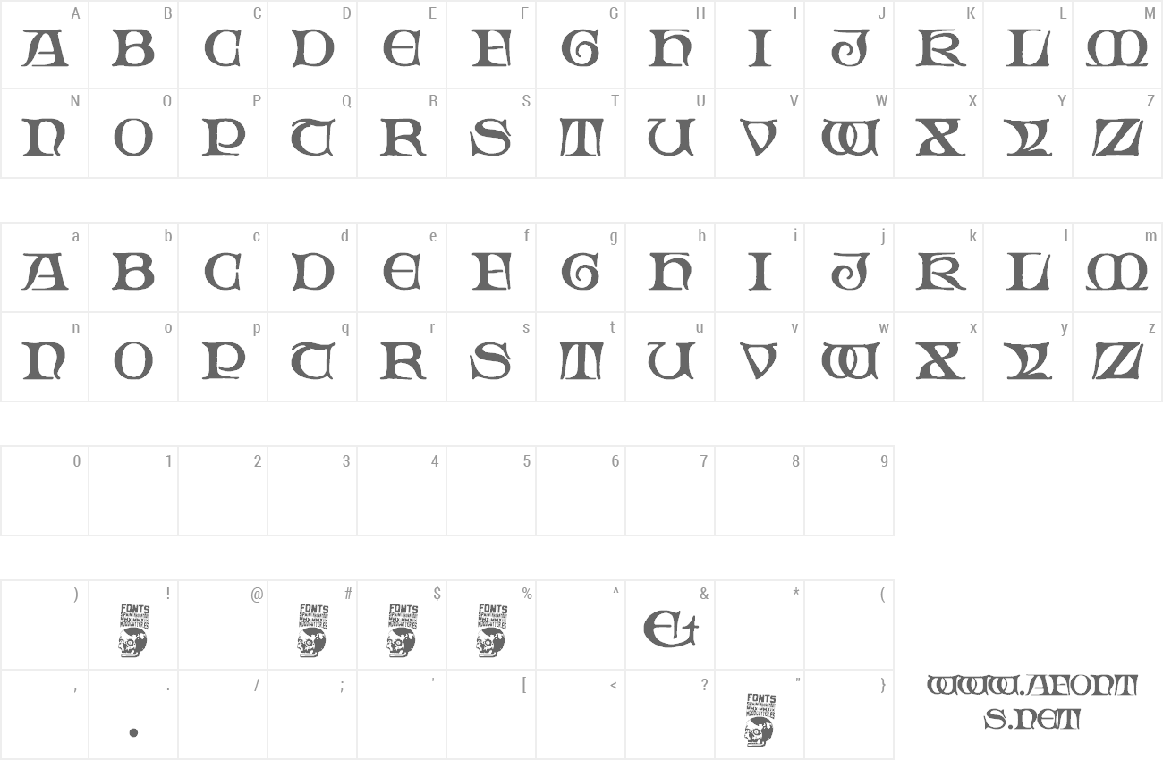 Font Gothic Manus preview