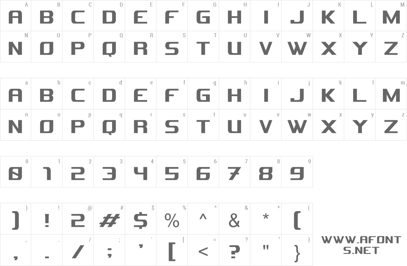 Font Astron preview