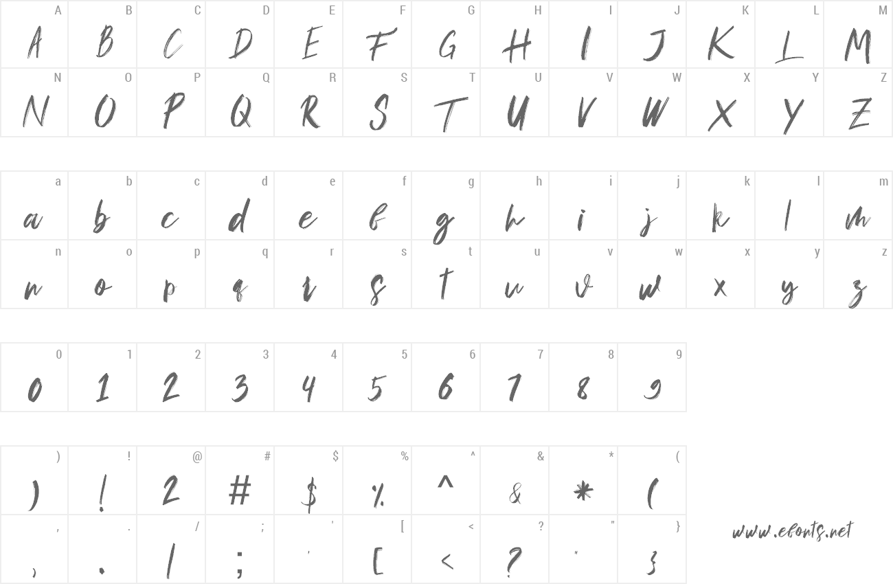 Font Musuh preview