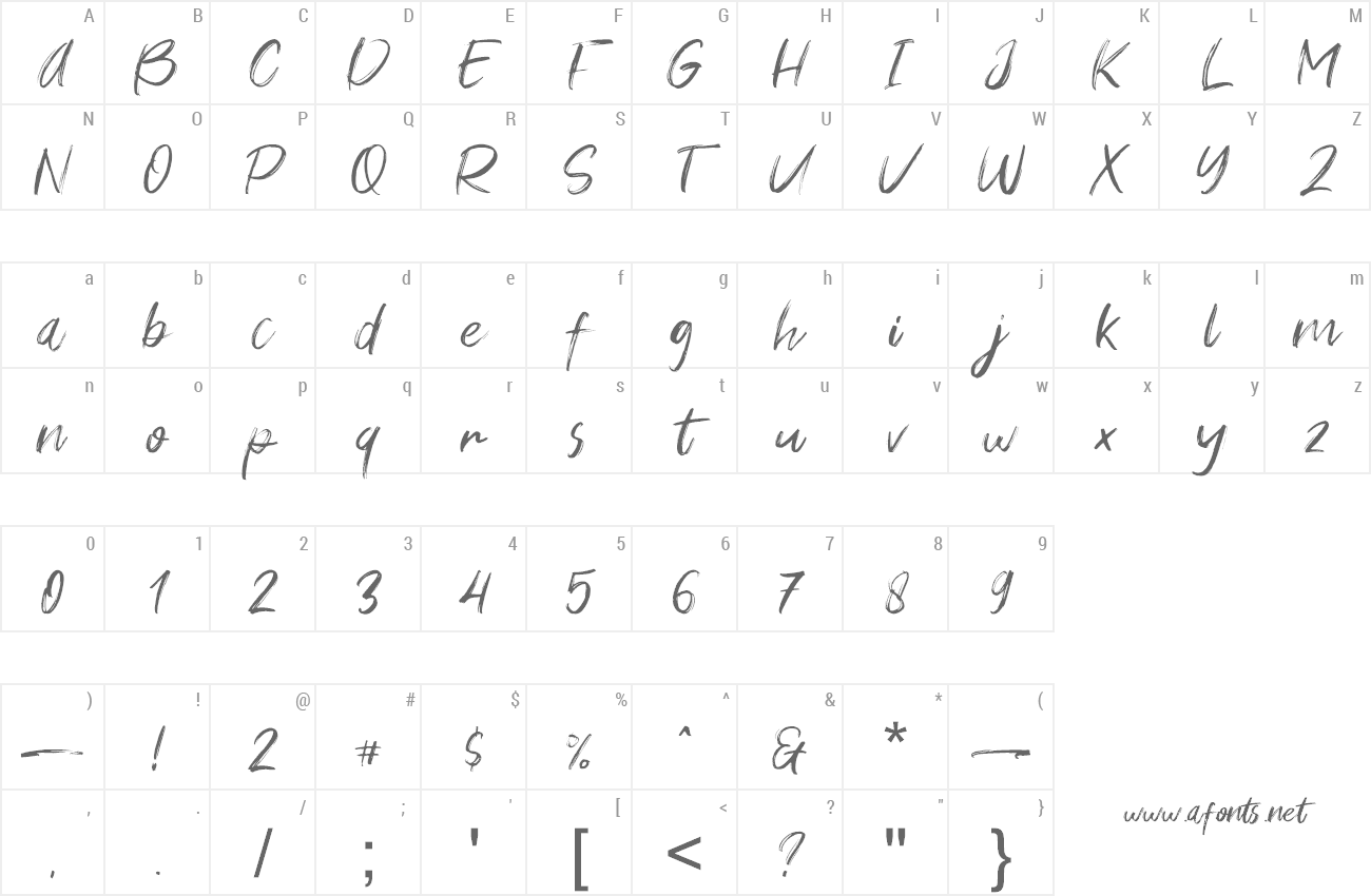 Font Young Vigor preview
