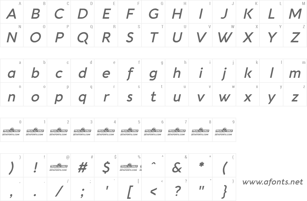 Font Aquawax Pro Pictograms preview