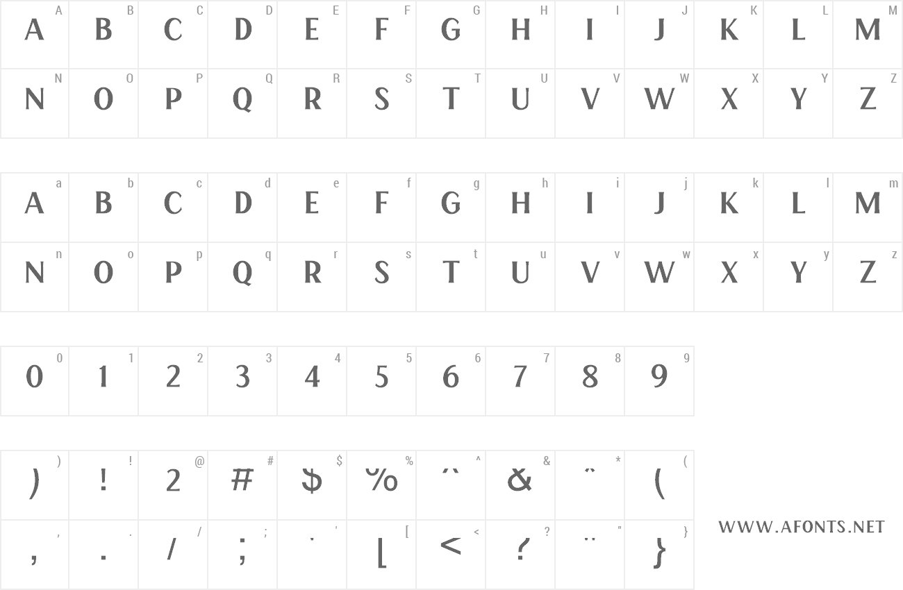 Font Henave preview