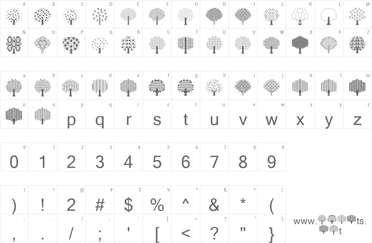 Font Balloon Trees preview