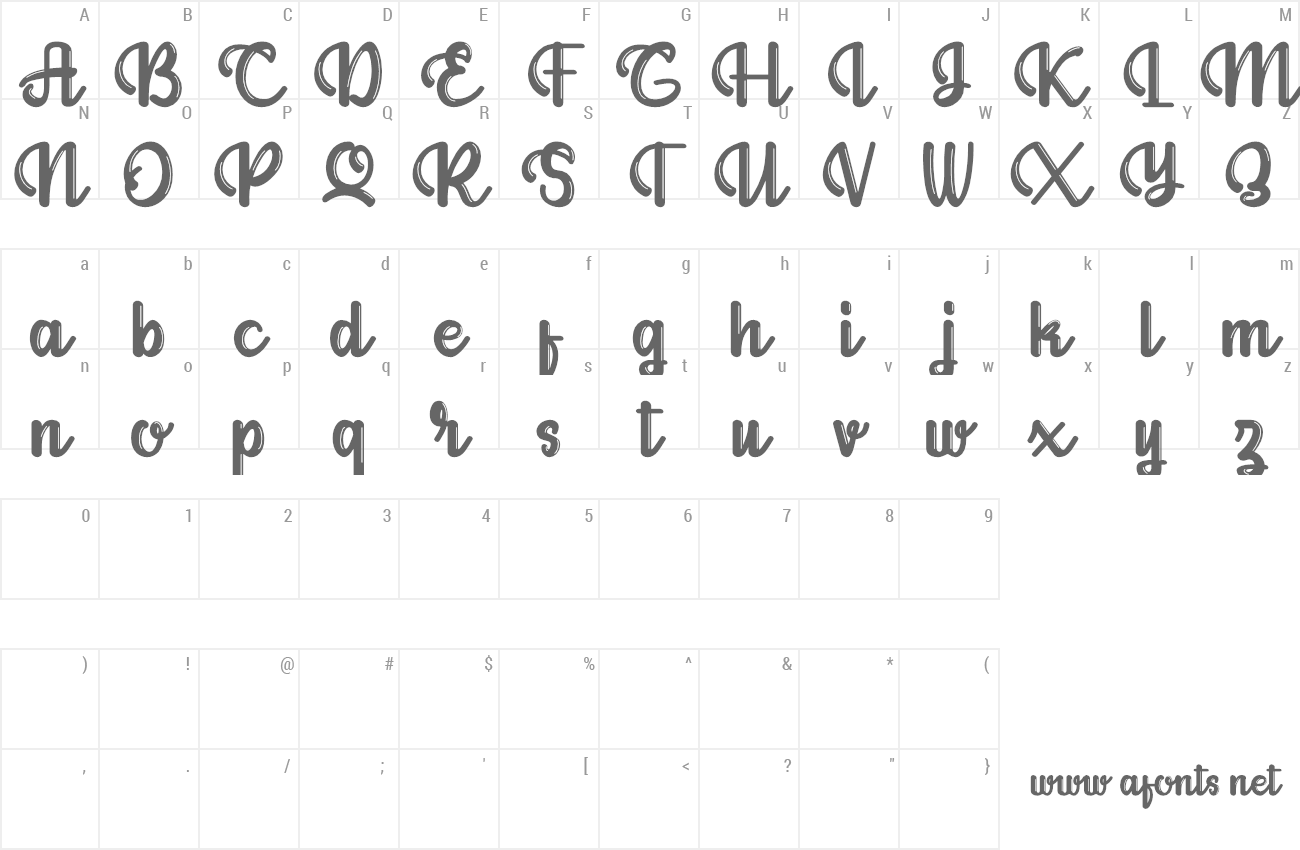 Font Allianta preview