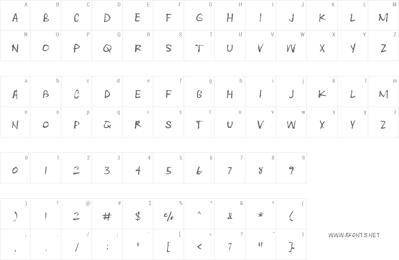 Font Heartwrecked preview