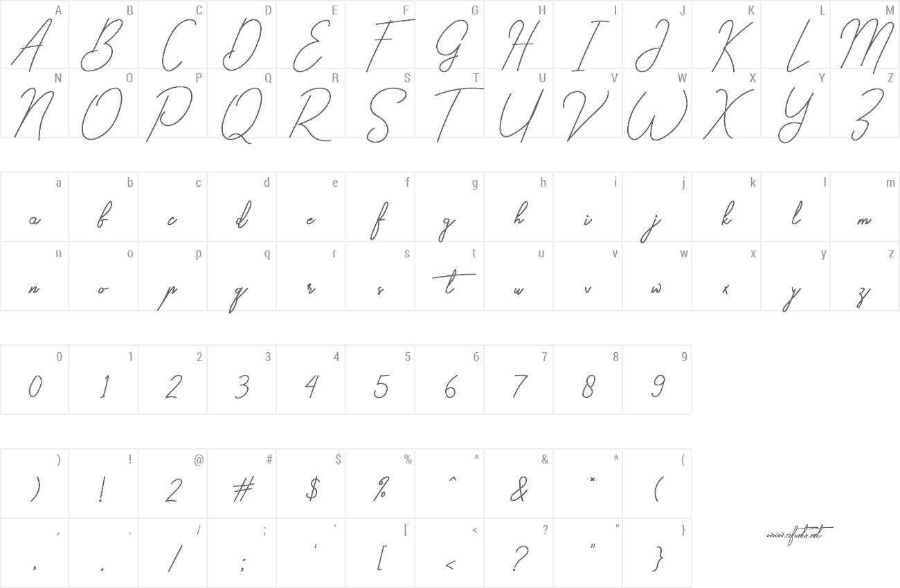 Font Gilberta preview