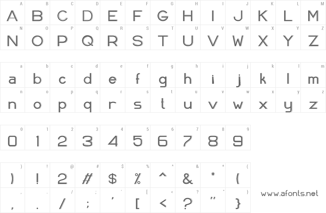Font Aveela preview