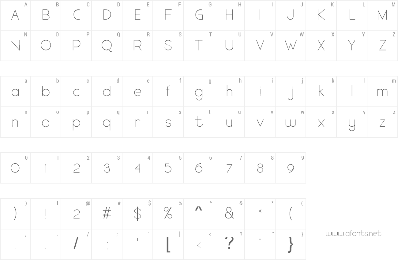 Font Arthique preview