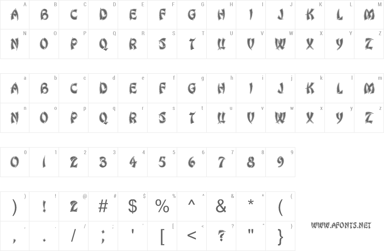 Font Chinese Dragon preview