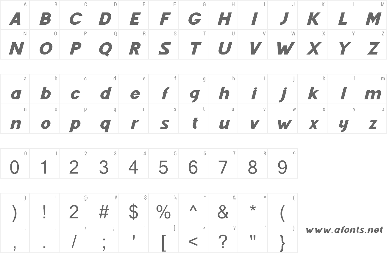 Font Fenord preview