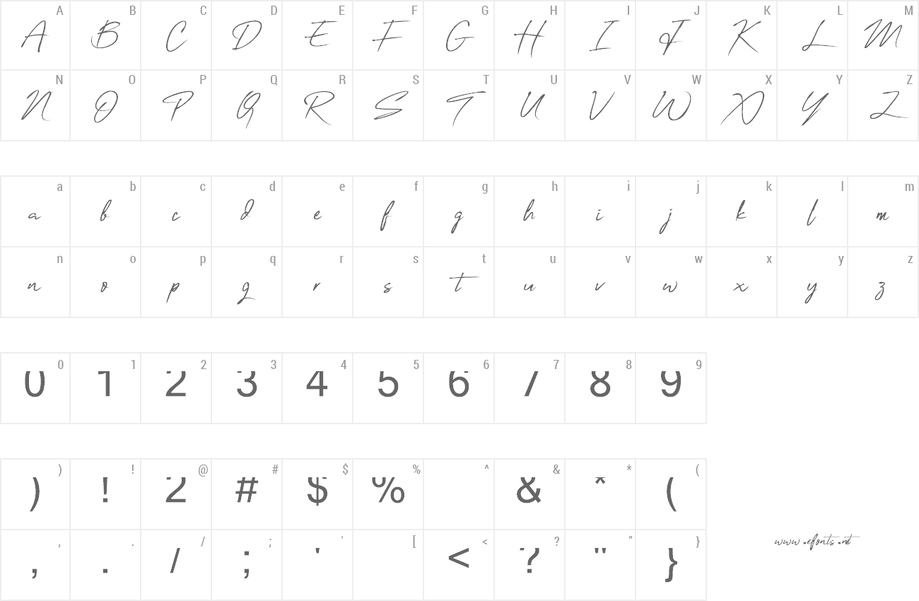Font One Signature preview
