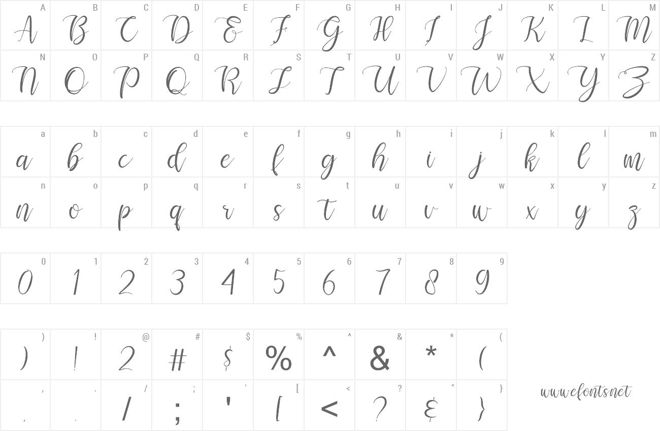 Font Selamyts preview